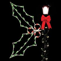 5' Silhouette Holly, LED