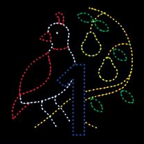 Animated 10 1/2' x 10 1/2' Partridge in a Pear Tree, LED