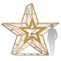 10' 3D LED Star Icon Deluxe - Warm White