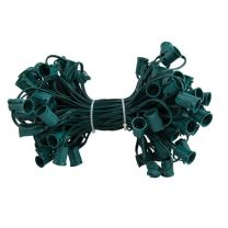 """C9 Cord, 24"""" Spacing, Green Wire, SPT-1, 100'"""