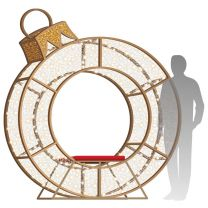 8' LED Ornament Icon - Photo Op Feature Piece with Red Seat