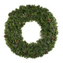 """48"""" Unlit Deluxe Mixed Pine Wreath - Bow Option Available"""