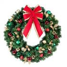 """48"""" Unlit Wreath Decorated Traditional Decor"""