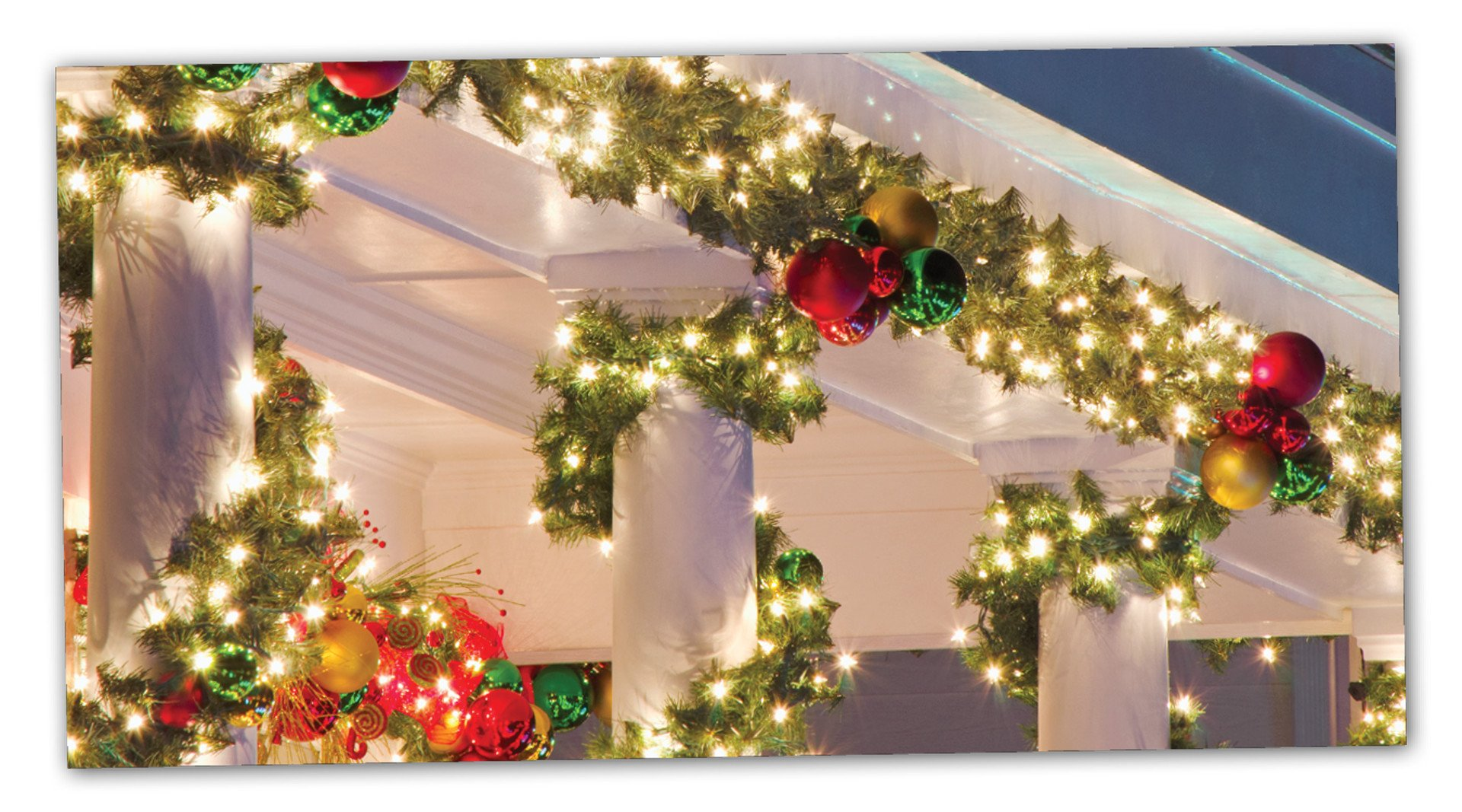 Garland with white lights
