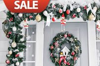 Christmas wreath, garland and sprays sales and clearance items